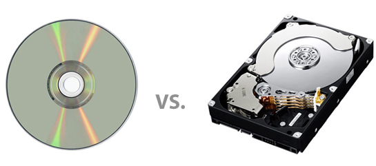 DVD disc vs Hard Drive